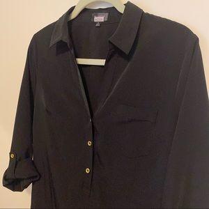 The Limited Black 3/4 sleeve long sleeve blouse dress collar v neck